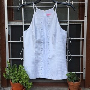 Lilly Pulitzer Annabelle sleeveless resort white 8